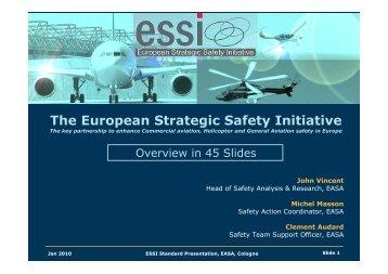 ESSI Standard Presentation 2010 - European Aviation Safety ...