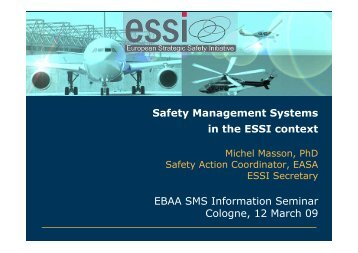 Safety Management Systems in the ESSI context - European ...