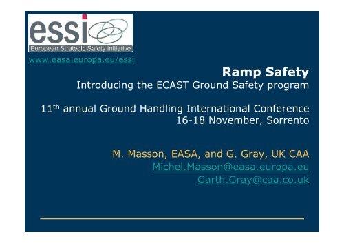 GHI 2009 M. Masson, EASA, and G. Gray, UK CAA - European ...