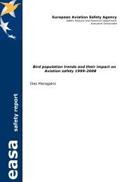 Bird population trends and their impact on Aviation - European ...