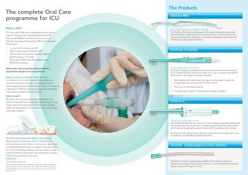 The complete Oral Care programme for ICU - Intersurgical