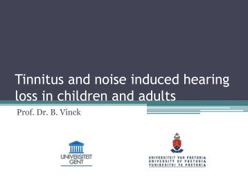 Tinnitus and noise induced hearing loss in children ... - ENT Society