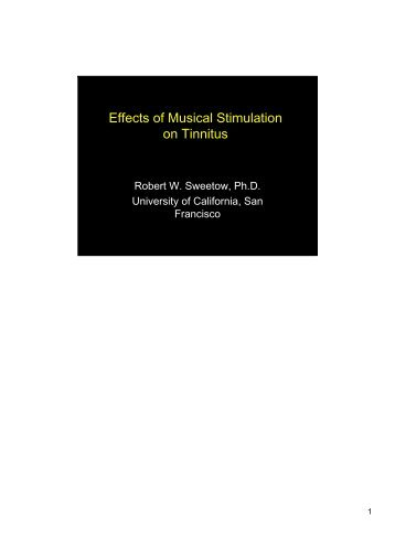 Effects of Musical Stimulation on Tinnitus - ENT