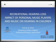recreational hearing loss impact of personal music ... - ENT Society