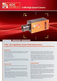 S-EM High Speed Camera - AOS Technologies AG