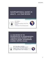 nasopharyngeal masses in adults – a 6 year review - ENT