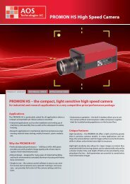PROMON HS High Speed Camera - AOS Technologies AG