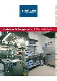Cuisson & lavage pour CHR et collectivites