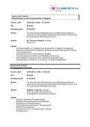 Angebote für Ehrenamtliche - PARITÄTISCHEN Sachsen