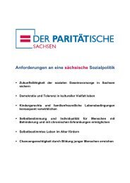 Anforderungen an eine sächsische Sozialpolitik - PARITÄTISCHEN ...