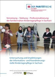 Vernetzung – Stärkung – Professionalisierung der familiennahen ...