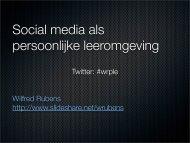 Social media als persoonlijke leeromgeving