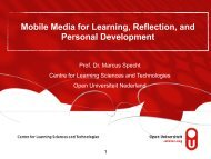 Mobile Media for Learning, Reflection, and Personal Development