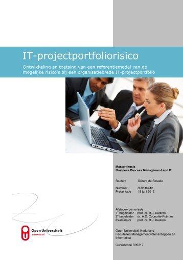 IT-projectportfoliorisico - DSpace at Open Universiteit - Open ...