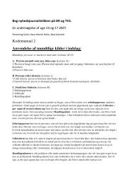 Kodemanual 2 Anvendelse af mundtlige kilder i indslag: