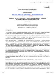959 15.12.2009 Press release issued by the Registrar Chamber ...