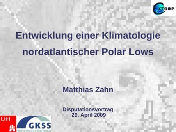 Entwicklung einer Klimatologie nordatlantischer Polar Lows
