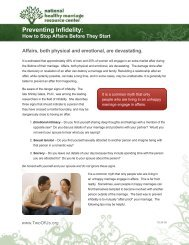 Preventing Infidelity: How to Stop Affairs Before ... - Stronger Marriage