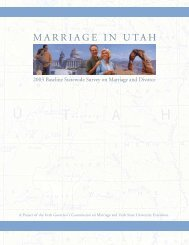 Marriage in Utah Study - Stronger Marriage