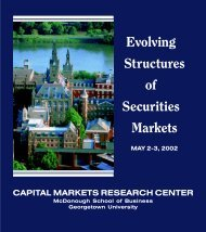 Evolving Structures of Securities Markets - Faculty & Research ...