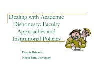 Dealing with Academic Dishonesty in the ESL Classroom - AACRAO