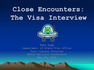Close Encounters II-U.S. Officials Discuss Interviews and Inspections