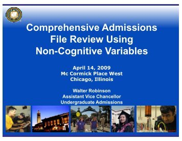Comprehensive Admissions File Review Using Non ... - AACRAO