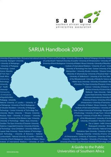 SARUA Handbook 2009 - sanord - University of the Western Cape