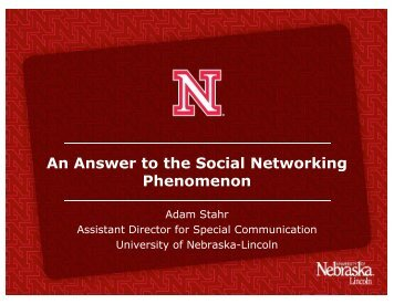 An Answer to the Social Networking Phenomenon - AACRAO