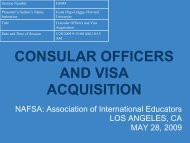 CONSULAR OFFICERS AND VISA ACQUISITION
