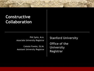 Constructive Collaboration - AACRAO