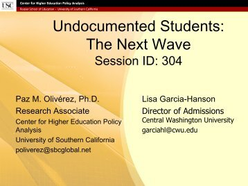 Undocumented Students: The Next Wave - AACRAO
