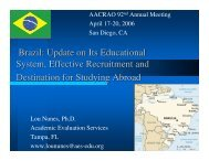 Brazil: Update on Its Educational System, Effective Recruitment and ...