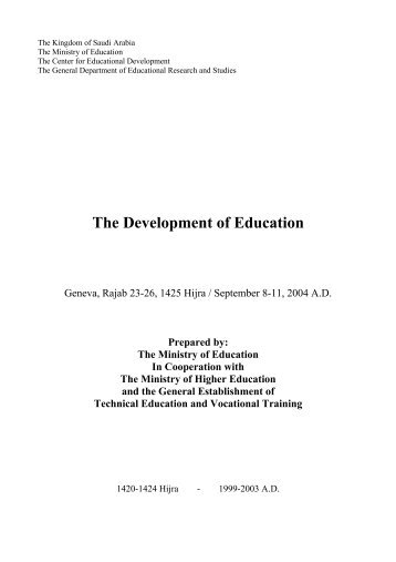 Saudi Arabia-English - International Bureau of Education - Unesco