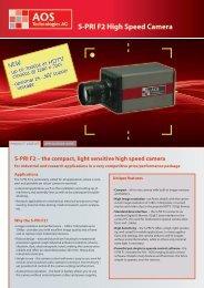 S-PRI F2 High Speed Camera - AOS Technologies AG