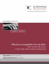 Efficacité et navigabilité d'un site Web: rien ne sert de courir ... - cirano