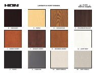 LAMINATE & PAINT FINISHES - Plano Office Supply