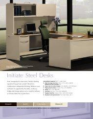 Initiate® Steel Desks - Plano Office Supply