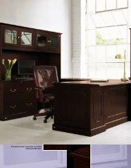 A D G C B Pennsylvania Avenue™ veneer desks are available in ...