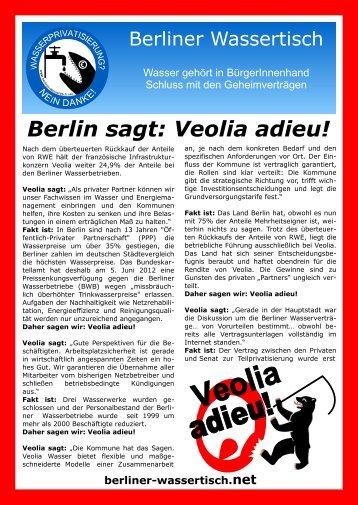 Berlin sagt: Veolia adieu! - Berliner Wassertisch