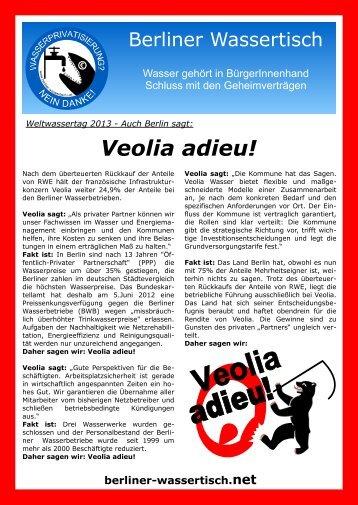 Veolia adieu! - Berliner Wassertisch