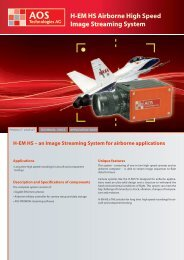 H-EM HS Airborne High Speed Image ... - AOS Technologies AG