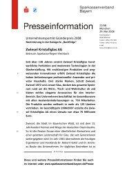 Zwiesel Kristallglas AG - Sparkassenverband Bayern