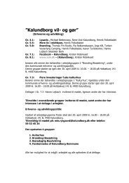 Kalundborg vil- og gør arbejdsgrupper - Kalundborgegnens ...