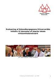 Netværks-evaluering 2008 - Kalundborgegnens Erhvervsråd