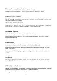 Funktionær kontrakt