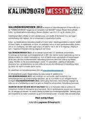 KALUNDBORGMESSEN 2012 - Kalundborgegnens Erhvervsråd