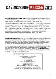 MESSEHÅNDBOG 2011 - Kalundborgegnens Erhvervsråd