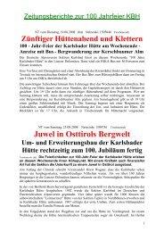 Bericht 100-Jahr-Feier - DAV Karlsbad