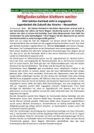 Bericht Jahreshauptversammlung 2011 - DAV Karlsbad